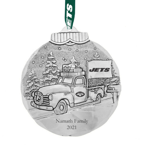 New York Jets Tailgating Ornament Aluminum Wendell August