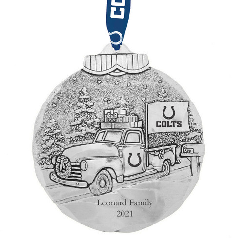 Indianapolis Colts Tailgating Ornament Aluminum Wendell August