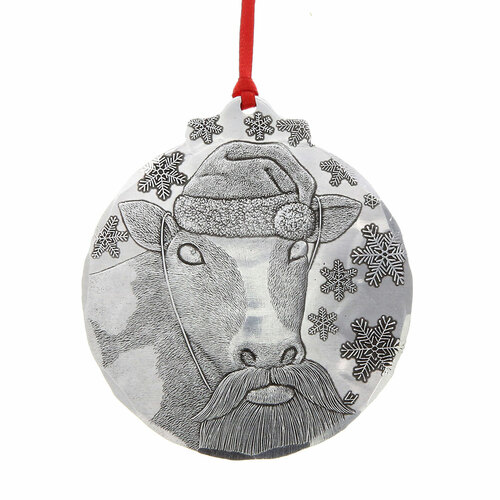 Santa Cow Ornament