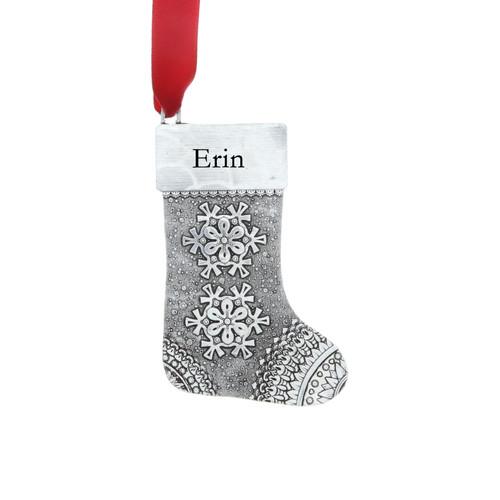 Personalized Snowflake Stocking Ornament