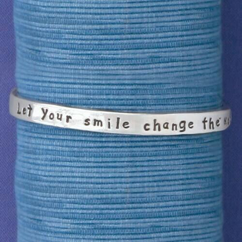 Let Your Smile Bangle Large Wendell August