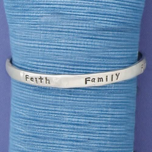 Faith Family Friends Bangle Medium Wendell August