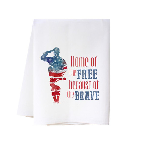 Home of the Free Flour Sack Towel Wendell August