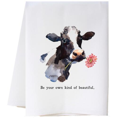 Cow With Flower Flour Sack Towel Wendell August