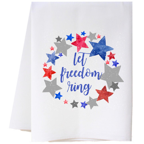 Let Freedom Ring Flour Sack Towel Wendell August