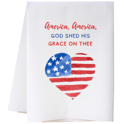 God Shed His Grace Flour Sack Towel Wendell August