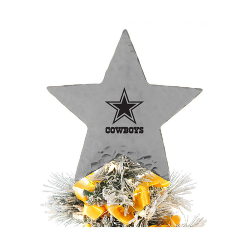 Dallas Cowboys Star Tree Topper Aluminum Wendell August