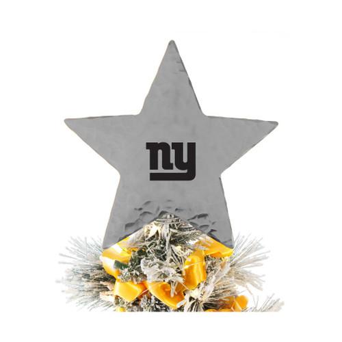 New York Giants Star Tree Topper Aluminum Wendell August