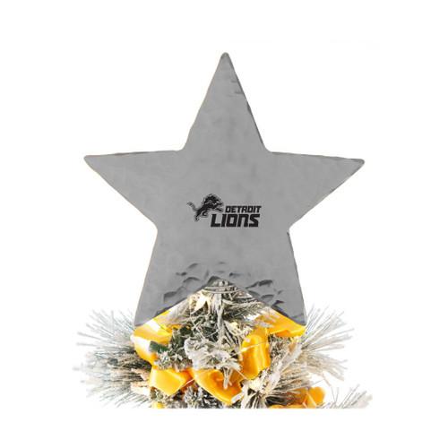 Detroit Lions Star Tree Topper Aluminum Wendell August