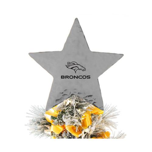 Denver Broncos Star Tree Topper Aluminum Wendell August