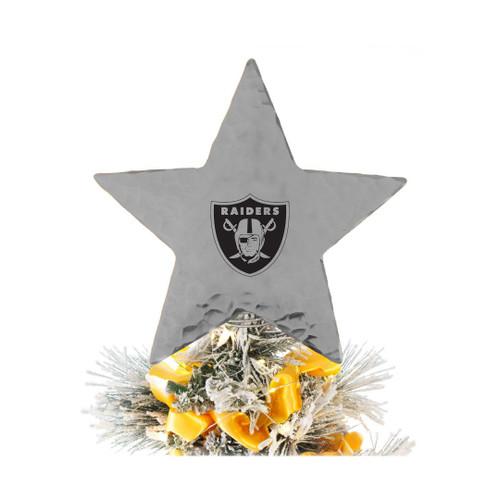 Las Vegas Raiders Star Tree Topper Aluminum Wendell August