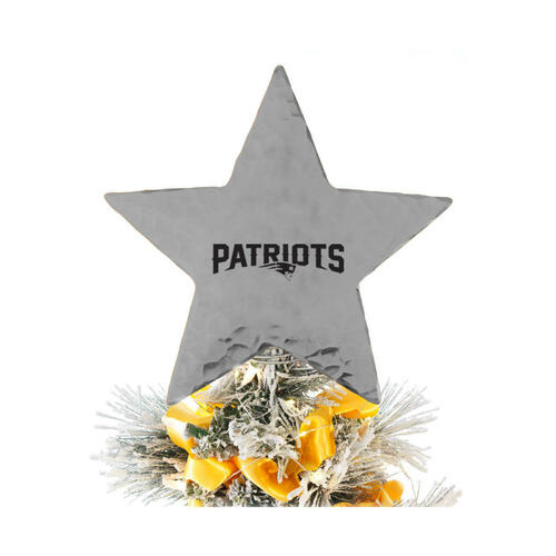New England Patriots Star Tree Topper Aluminum Wendell August