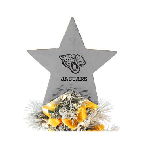 Jacksonville Jaguars Star Tree Topper Aluminum Wendell August
