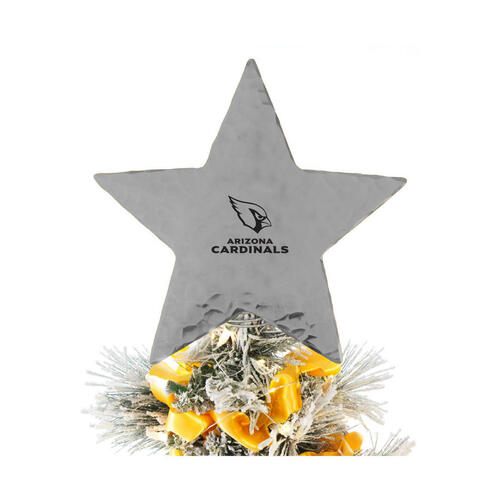 Arizona Cardinals Star Tree Topper Aluminum Wendell August