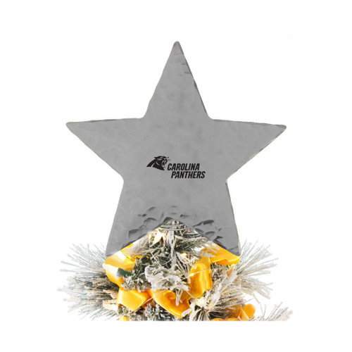 Carolina Panthers Star Tree Topper Aluminum Wendell August