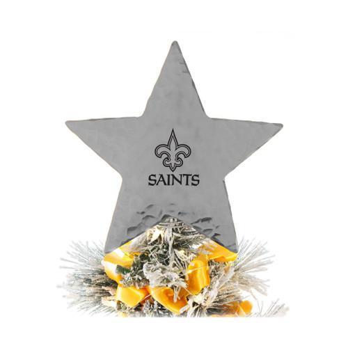 New Orleans Saints Star Tree Topper Aluminum Wendell August