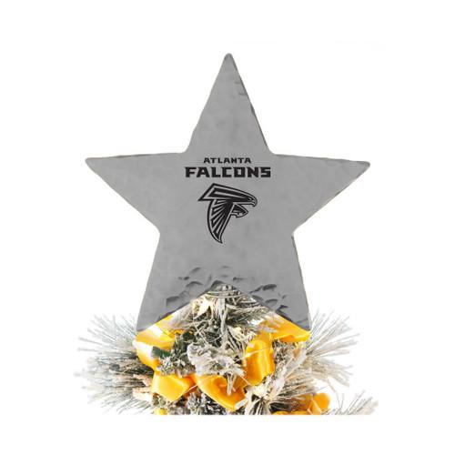 Atlanta Falcons Star Tree Topper Aluminum Wendell August