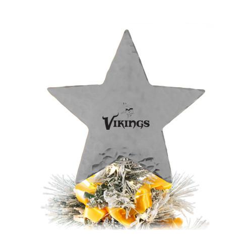 Minnesota Vikings Star Tree Topper Aluminum Wendell August
