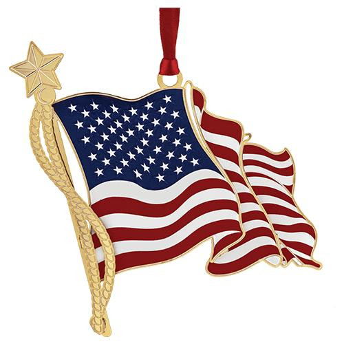 American Flag Ornament Wendell August