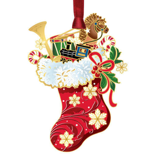 Classic Christmas Stocking Ornament Wendell August