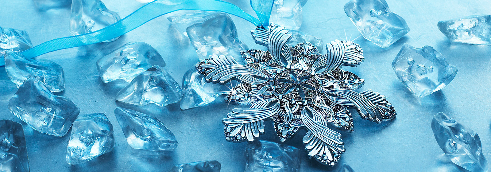 Snow Crystal Swarovski Christmas Ornament