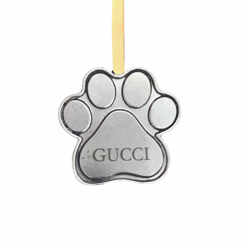 Personalized Dog Christmas Ornament Paw Prints Gifts For The Dog