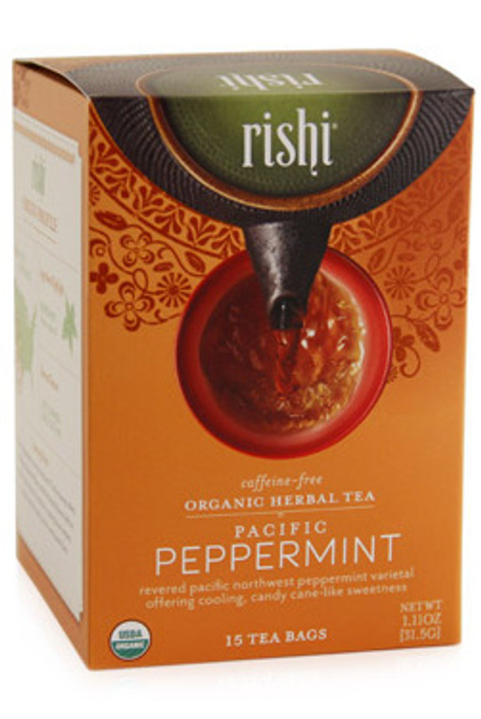 Rishi Peppermint Organic Herbal Tea (caffeine free)