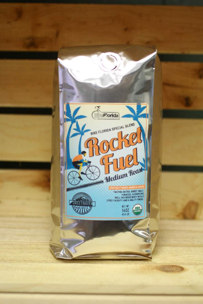 Rocket Fuel is a coffee blend for Bike Florida, a non-profit working to make Florida's roads safer for cyclists.