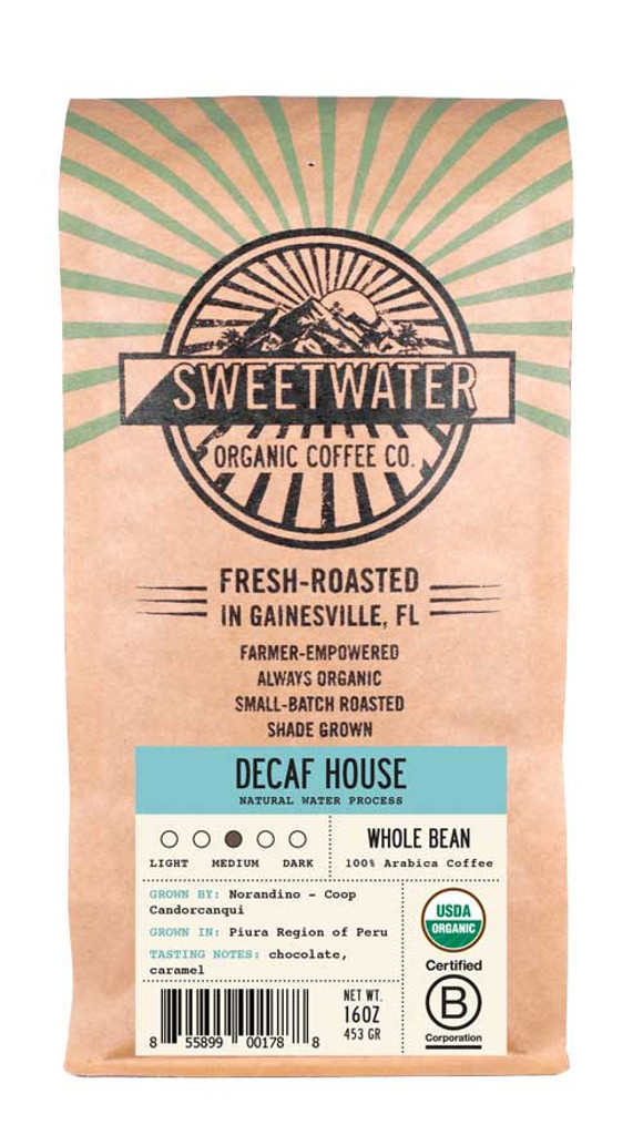 Decaf House Full City Roast Fair Trade Organic Coffee