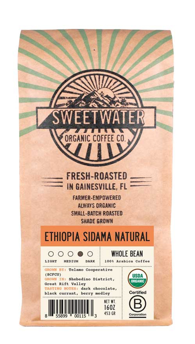 Ethiopia Sidama Viennese Roast Fair Trade Organic Coffee