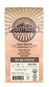 Red Dog Espresso Full City Roast Fair Trade Organic Coffee