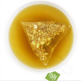 Rishi Tea offers a new filter mesh material from plant based resources that yields a far greater extraction ratio and infusion quality than any other tea bag.