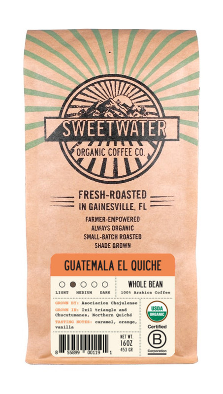 Sweet, fruity aroma and subtle red fruit and earthy flavor with medium acidity. A simple and delicious fair trade, organic, shade-grown coffee from Guatemala