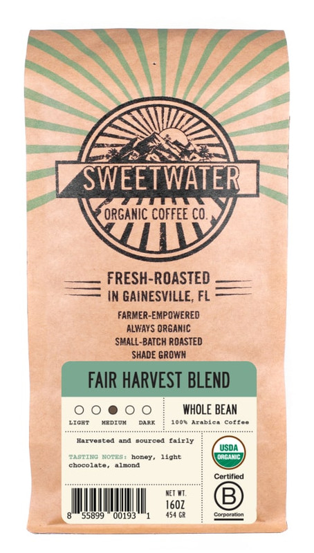Bag of Fair Harvest Blend Coffee