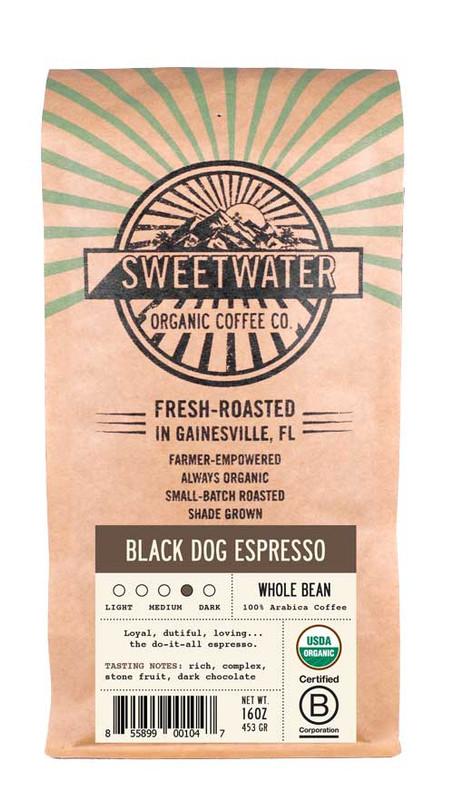Black Dog Espresso Viennese Roast Fair Trade Organic Coffee