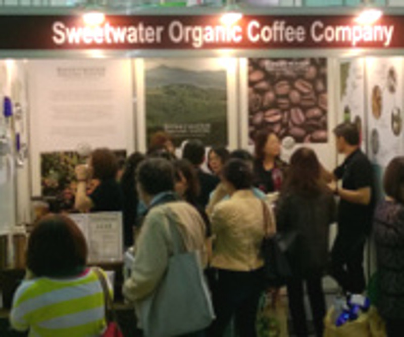 Sweetwater Organic Coffee participates in the Taiwan International Tea, Coffee & Wine Expo 2015!