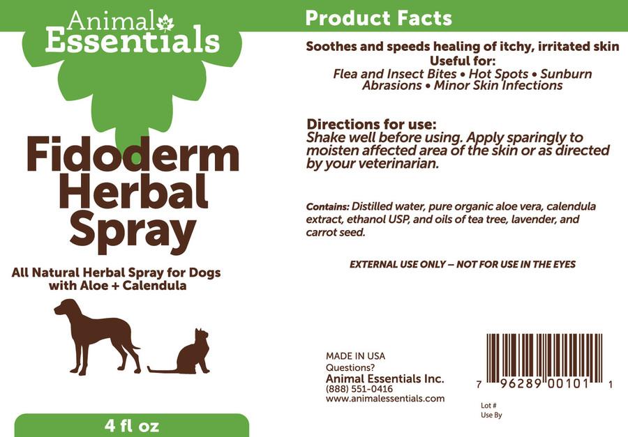 FidoDerm Skin Spray For Dogs & Horses