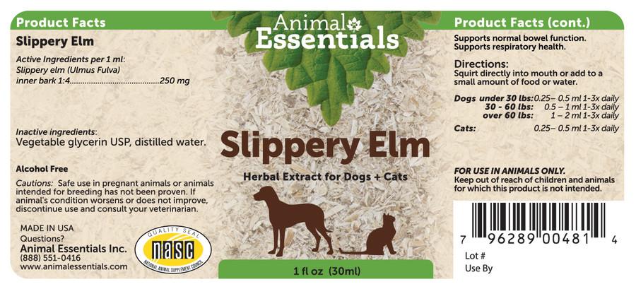 Slippery elm tincture by Animal Essentials