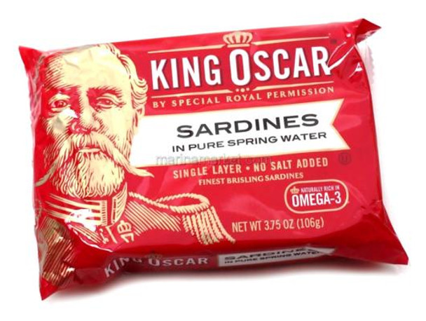 KING OSCAR SARDINES IN WATER 106g