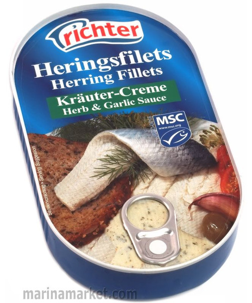 RICHTER HERRING IN HERB & GARLIC 200g