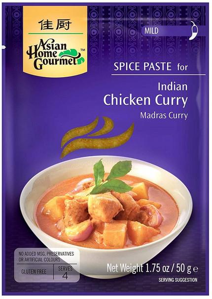 ASIAN HOME GOURMET CHICKEN CURRY MADRAS 50g