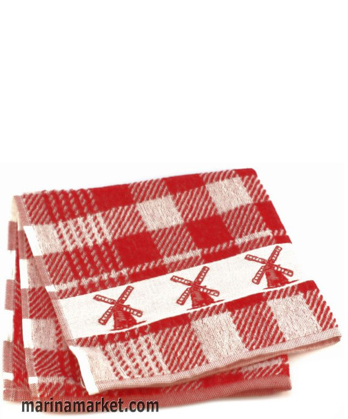 WINDMILL TOWEL RED TERRY