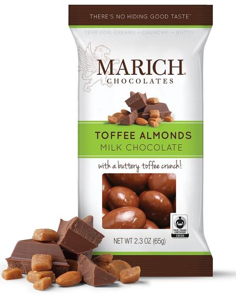 MARICH CHOCOLATE TOFFEE ALMONDS 2.3oz