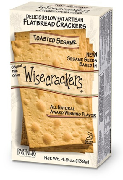 WISECRACKERS TOASTED SESAME 4.9oz