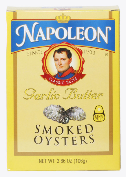 SMOKED OYSTERS GARLIC BUTTER 106G