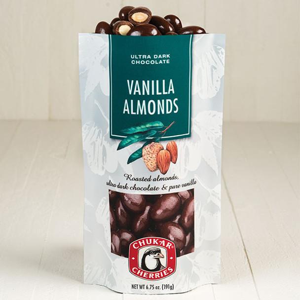 CHUKAR DARK CHOCOLATE VANILLA ALMONDS 6.75oz