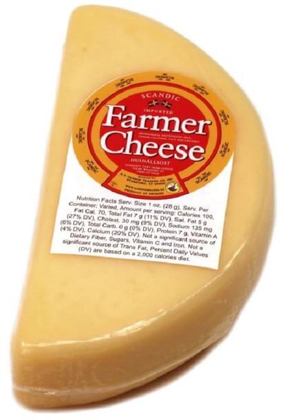 FARMER CHEESE pre cut lb