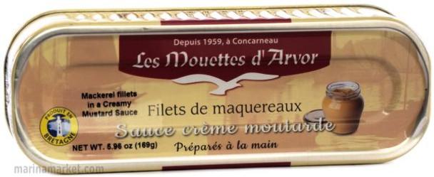 LES MOUETTES d' ARVOR MACKEREL WITH MUSTARD SAUCE 176g