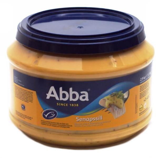ABBA HERRING IN MUSTARD TUB 2.9kg