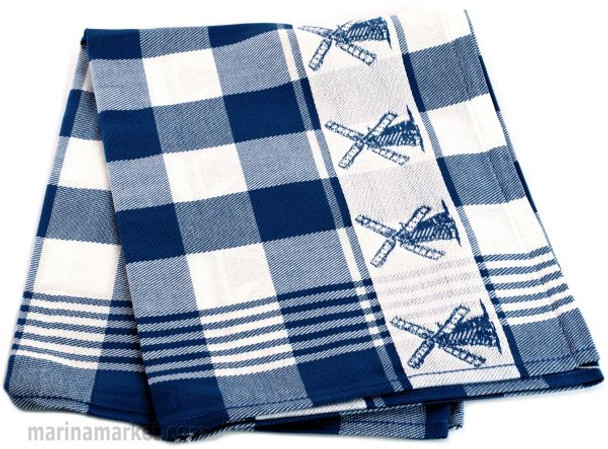 WINDMILL TOWEL BLUE GINGHAM